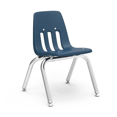 "Classroom Chair, 12"" Seat Height, Navy"