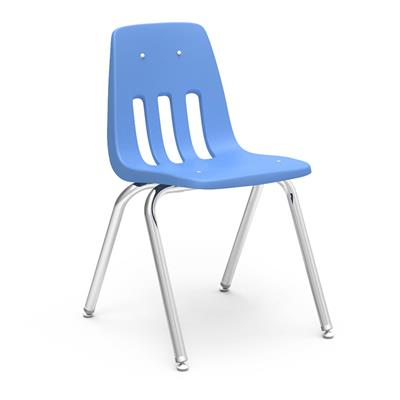 "Classroom Chair, 14"" Seat Height, Blueberry"