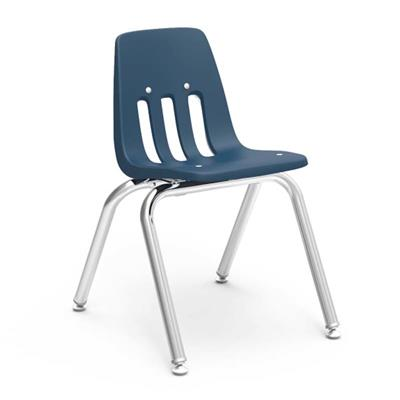 "Classroom Chair, 14"" Seat Height, Navy"
