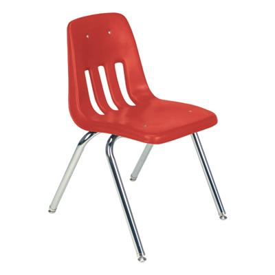 "Classroom Chair, 16"" Seat Height, Red"