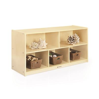 "5-Compartment Storage, Birch, 24"" High"