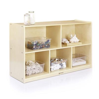 "5-Compartment Storage, Birch, 30"" High"