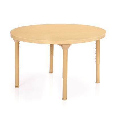 "Chunky Laminate Table, 36"", Round, Maple, 21""-30"" High"