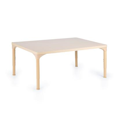 "Chunky Laminate Table, 30"" x 48"", Rectangle, Maple, 21""-30"" High"
