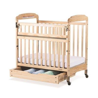 Next Gen Serenity SafeReach Clearview Mobile Crib, Compact, Natural