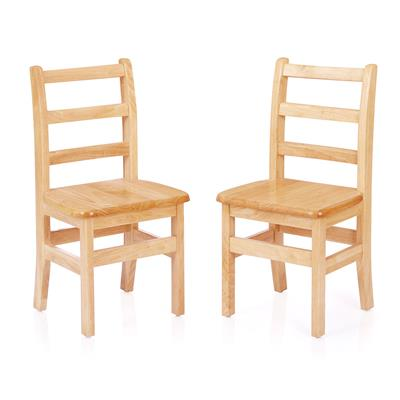 "Ladderback Chairs, 14"" Seat Height, Set of 2"