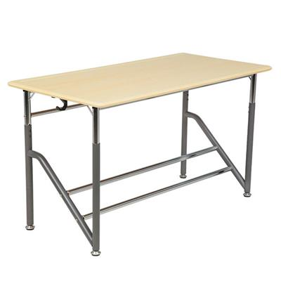 "Adjustable Standing Desk, 24"" x 48"", Maple with Grey, 26""-36"" High"