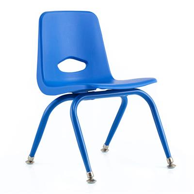 "Classroom Stacking Chair, 11-1/2"" Seat Height, Blue"