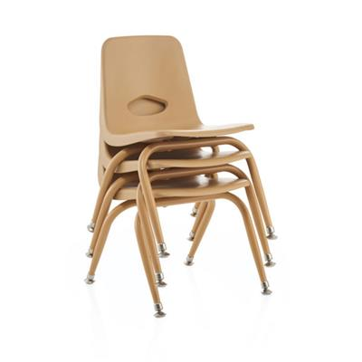 "Classroom Stacking Chair, 11-1/2"" Seat Height, Natural"