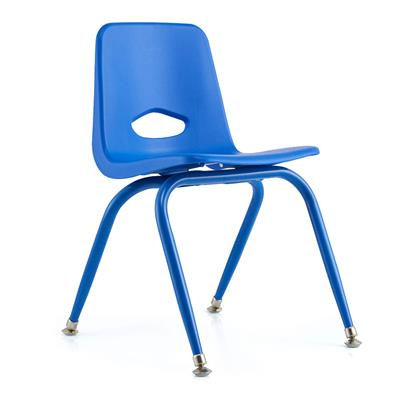 "Classroom Stacking Chair, 13-1/2"" Seat Height, Blue"