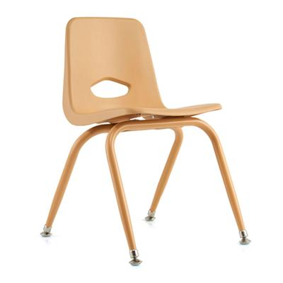 "Classroom Stacking Chair, 13-1/2"" Seat Height, Natural"