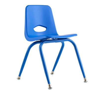 "Classroom Stacking Chair, 15-1/2"" Seat Height, Blue"