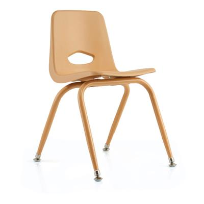"Classroom Stacking Chair, 15-1/2"" Seat Height, Natural"