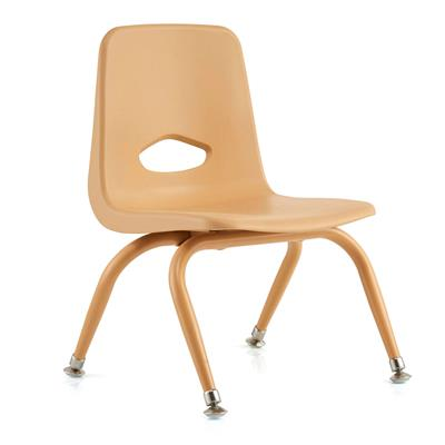 "Classroom Stacking Chair, 9-1/2"" Seat Height, Natural"
