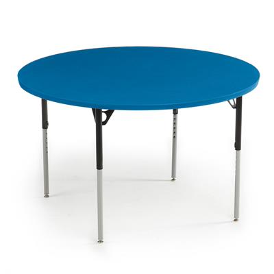 "Aktivity Adjustable Table, 48"", Round, Blueberry with Black, 17""-25"" High"