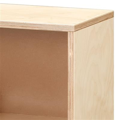 4-Section Mobile Storage, Birch
