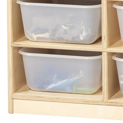 12-Bin Mobile Storage Unit, Birch
