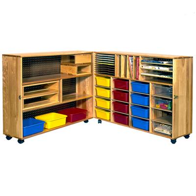 Hinged Lockable Mobile Unit, Premium Birch Hardwood