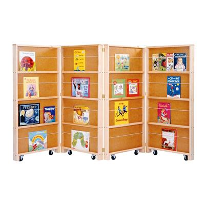 Four Panel Mobile Book Display, Birch