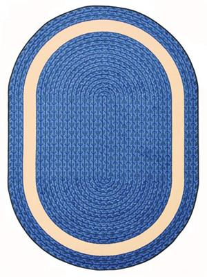 "Sharing Circle Rug, 5'4"" x 7'8"", Oval, Blue"