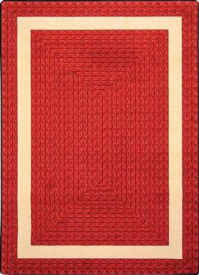 "Sharing Circle Rug, 7'8"" x 10'9"", Rectangle, Red"