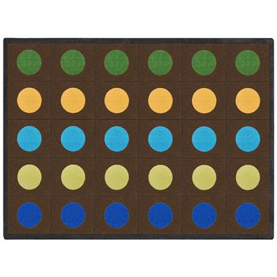 "Earthtone Lots of Dots Rug, 7'8"" x 10'9"", Rectangle, Natural"