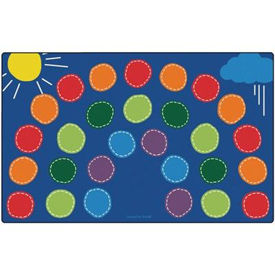 "Rainbow Seating Rug, 8'4"" x 13'4"", Rectangle"