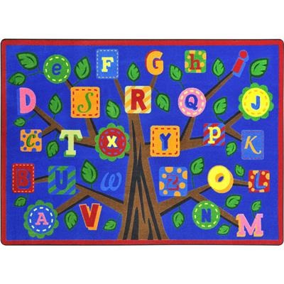 "Alphabet Leaves Rug, 7'8"" x 10'9"", Rectangle, Primary"