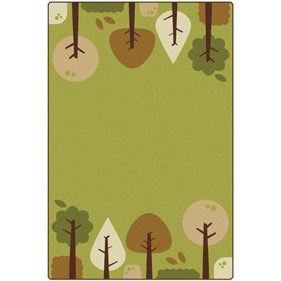 KIDSoft Tranquil Trees Rug, 6' x 9', Rectangle, Green