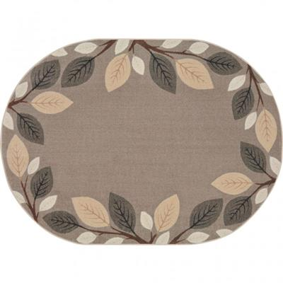 "Breezy Branches Rug, 7'8"" x 10'9"", Oval, Natural"