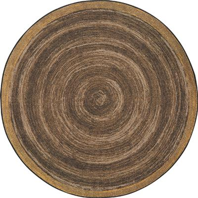 "Feeling Natural Rug, 5'4"", Round, Walnut"
