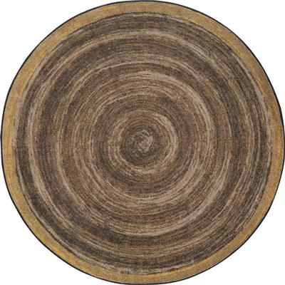 "Feeling Natural Rug, 7'7"", Round, Walnut"