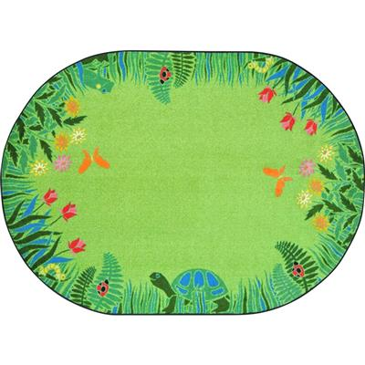 "Merry Meadows Rug, 5'4"" x 7'8"", Oval, Green"