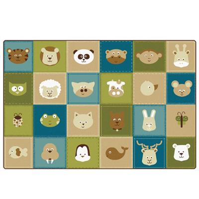 KIDSoft Animal Patchwork, 8' x 12', Rectangle