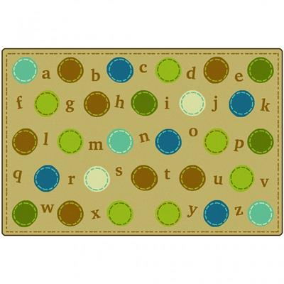 KIDSoft Alphabet Dots Rug, 8' x 12', Rectangle