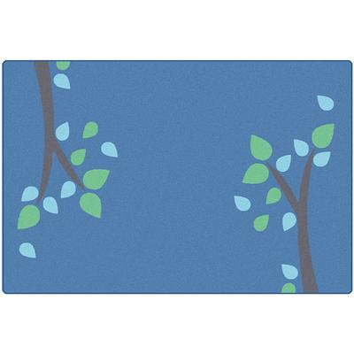 KIDSoft Branching Out, 8' x 12', Blue, Rectangle