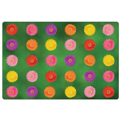 Flower Power Seating Rug, 8' x 12', Rectangle