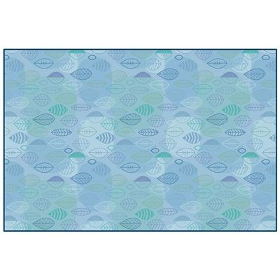 Peaceful Spaces Leaf Rug, 8' x 12', Rectangle, Blue