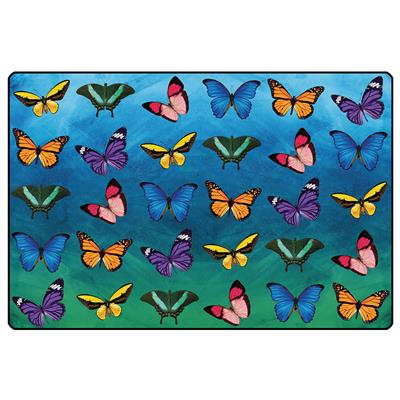 Beautiful Butterfly Seating Rug, 8' x 12', Rectangle