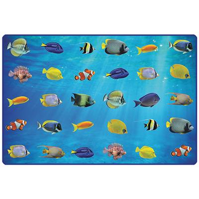 Friendly Fish Seating Rug, 8' x 12', Rectangle