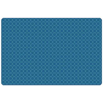 KIDSoft Comforting Circles Rug, 6' x 9', Rectangle, Blue